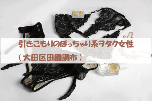 引きこもりのぽっちゃり系ヲタク女性(大田区田園調布)